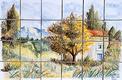 panneau décoratif paysage provençal Atelier Wiart