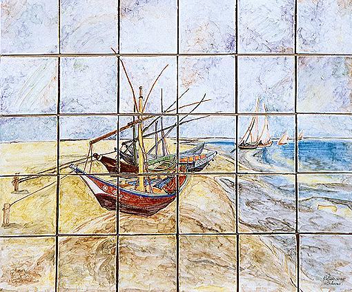 panneau décoratif les voiliers Atelier Wiart Salernes en Provence