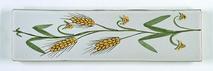 Carreau décoré motif Blé peint à la main - Salernes