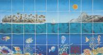 Panneau décoratif Vue sous marine - Salernes